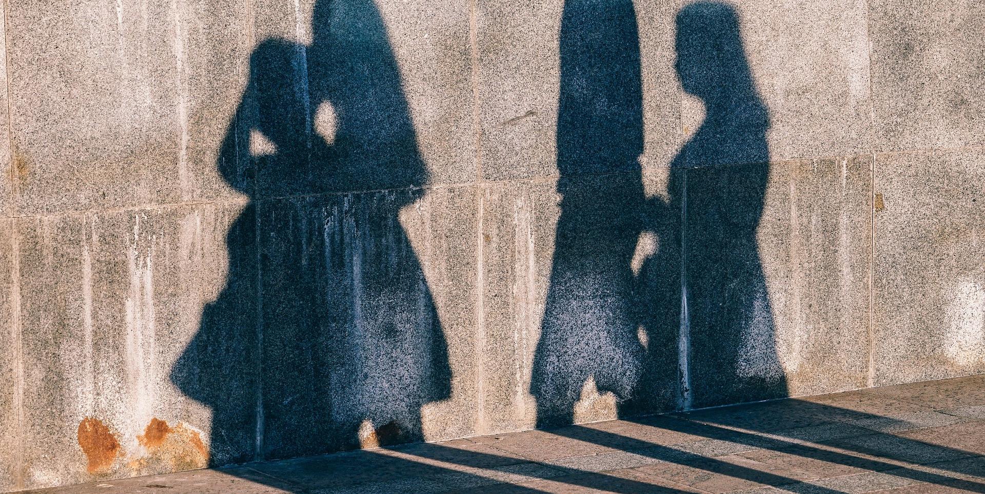 Shadows of walkers